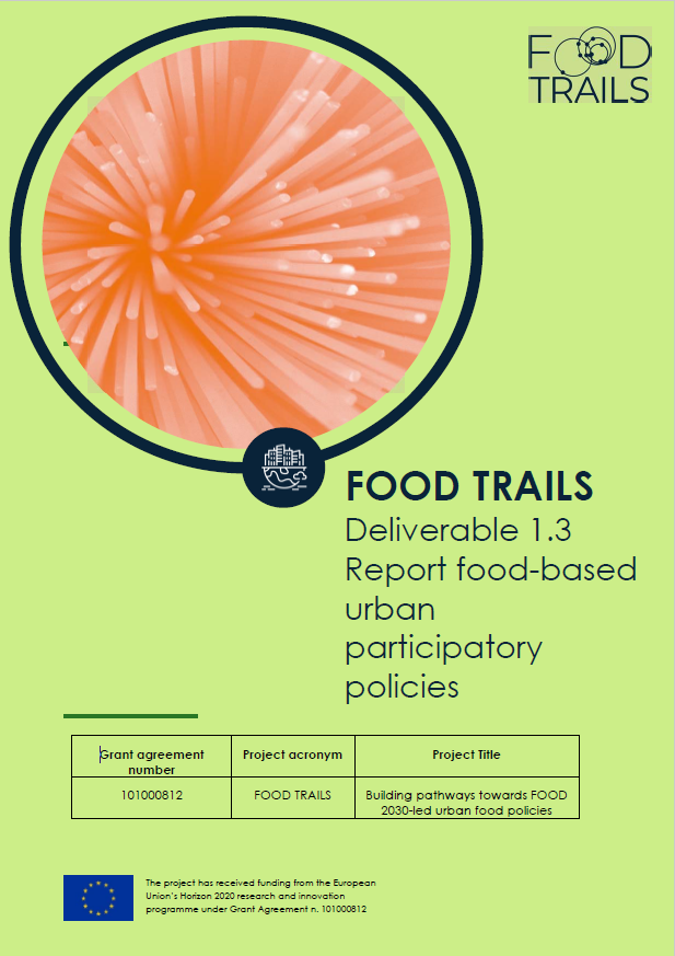 Report food-based urban participatory policies