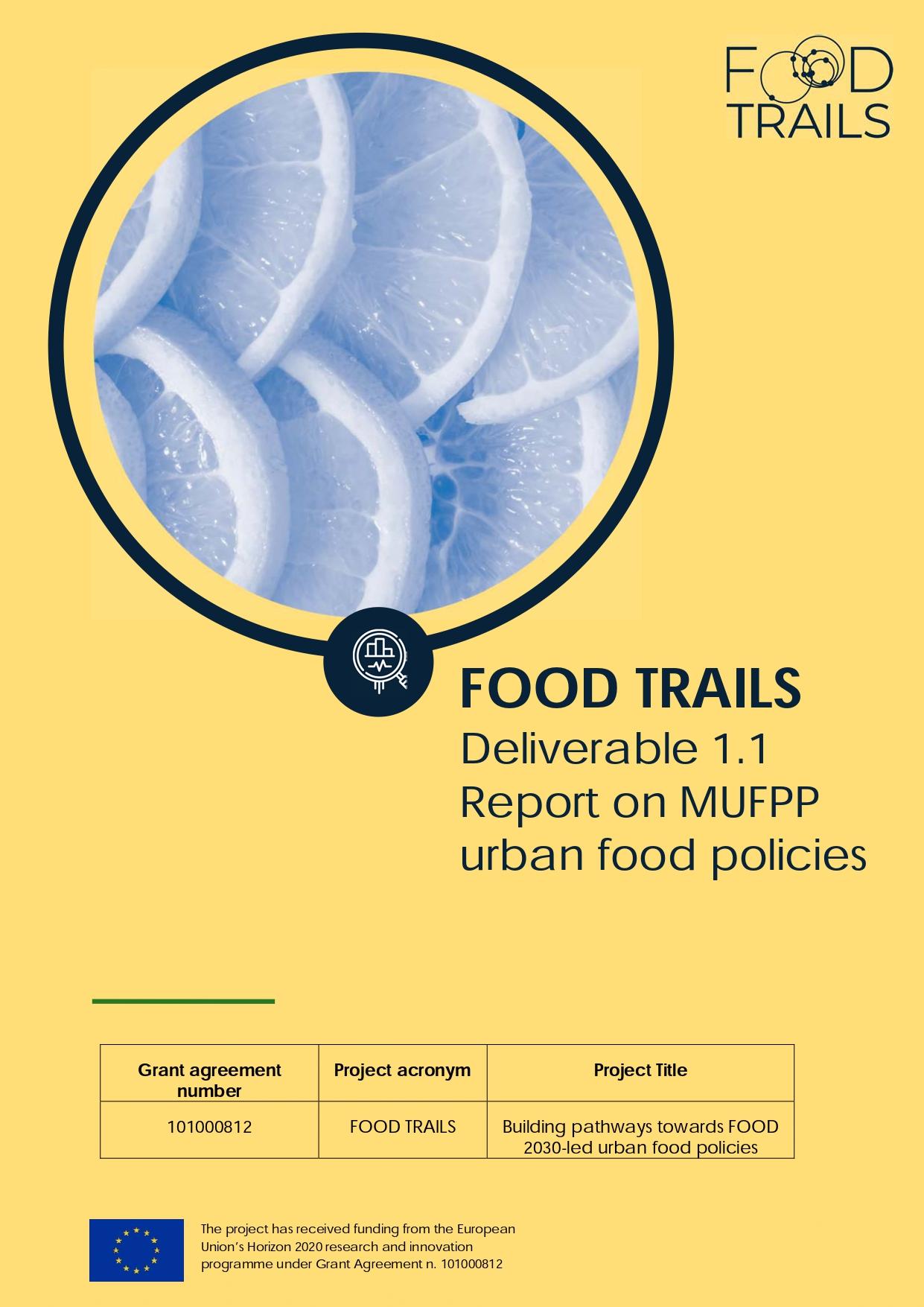 Report MUFPP urban food policies