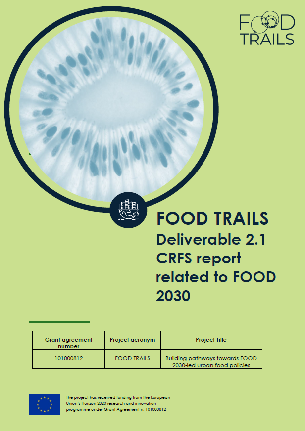 CRFS report related to FOOD 2030
